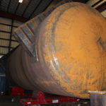 Image showing the erection of a 179″ x 420″ A516-70N ASME PRESSURE VALVE
